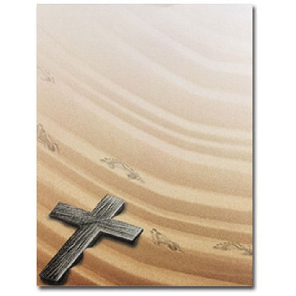 Religious Crossing Stationery Sheets - 160 Sheets  , holy cross letterhead, holy cross stationery, christian stationery, religious letterhead, Stationery & Letterhead