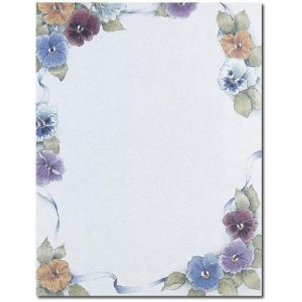 Pretty Pansies Letterhead Sheets - Sophie's Favors and Gifts