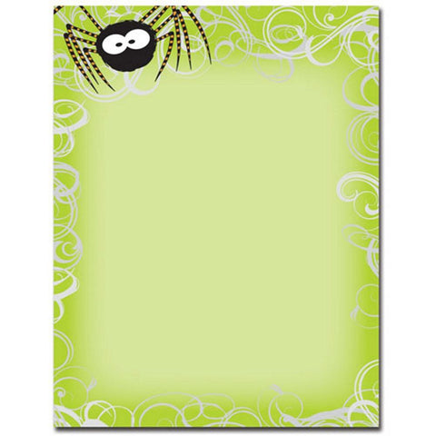 Green Spidey Swirls Letterhead Sheets - Sophie's Favors and Gifts