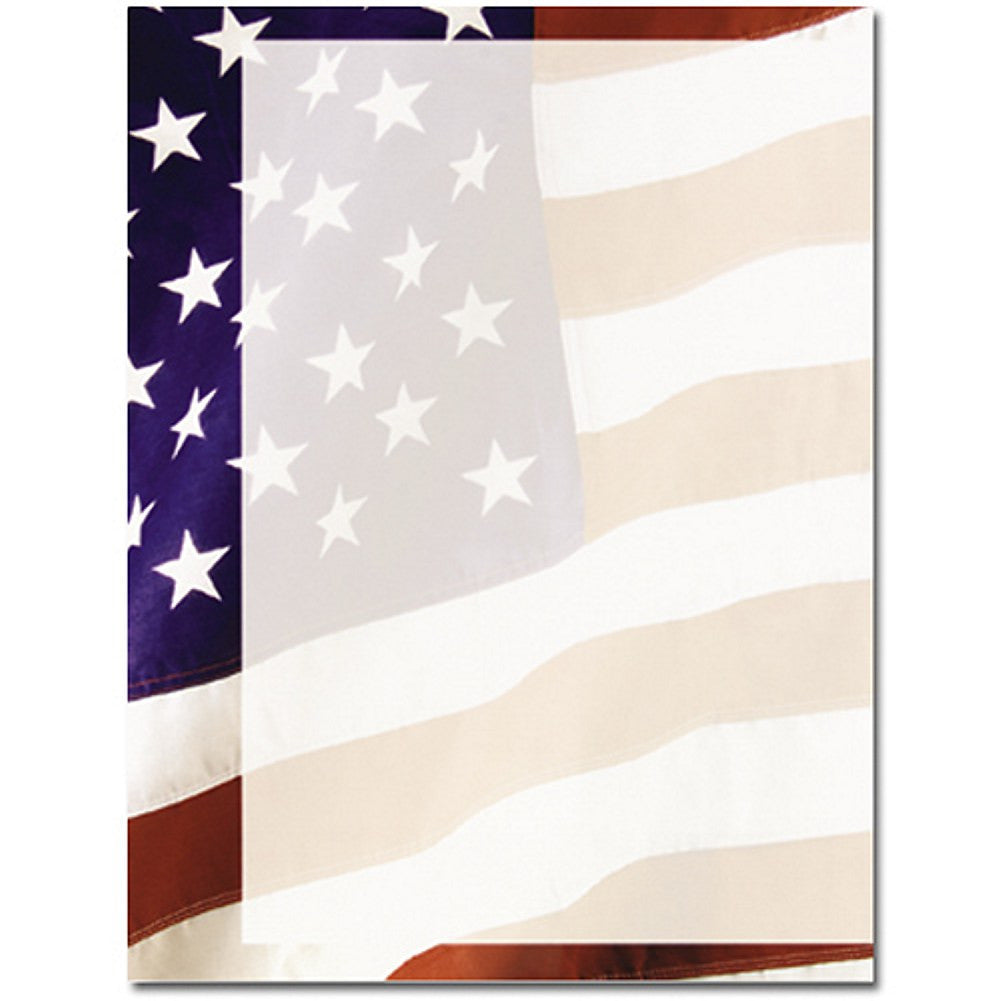 80 Old Glory Letterhead Sheets - Sophie's Favors and Gifts