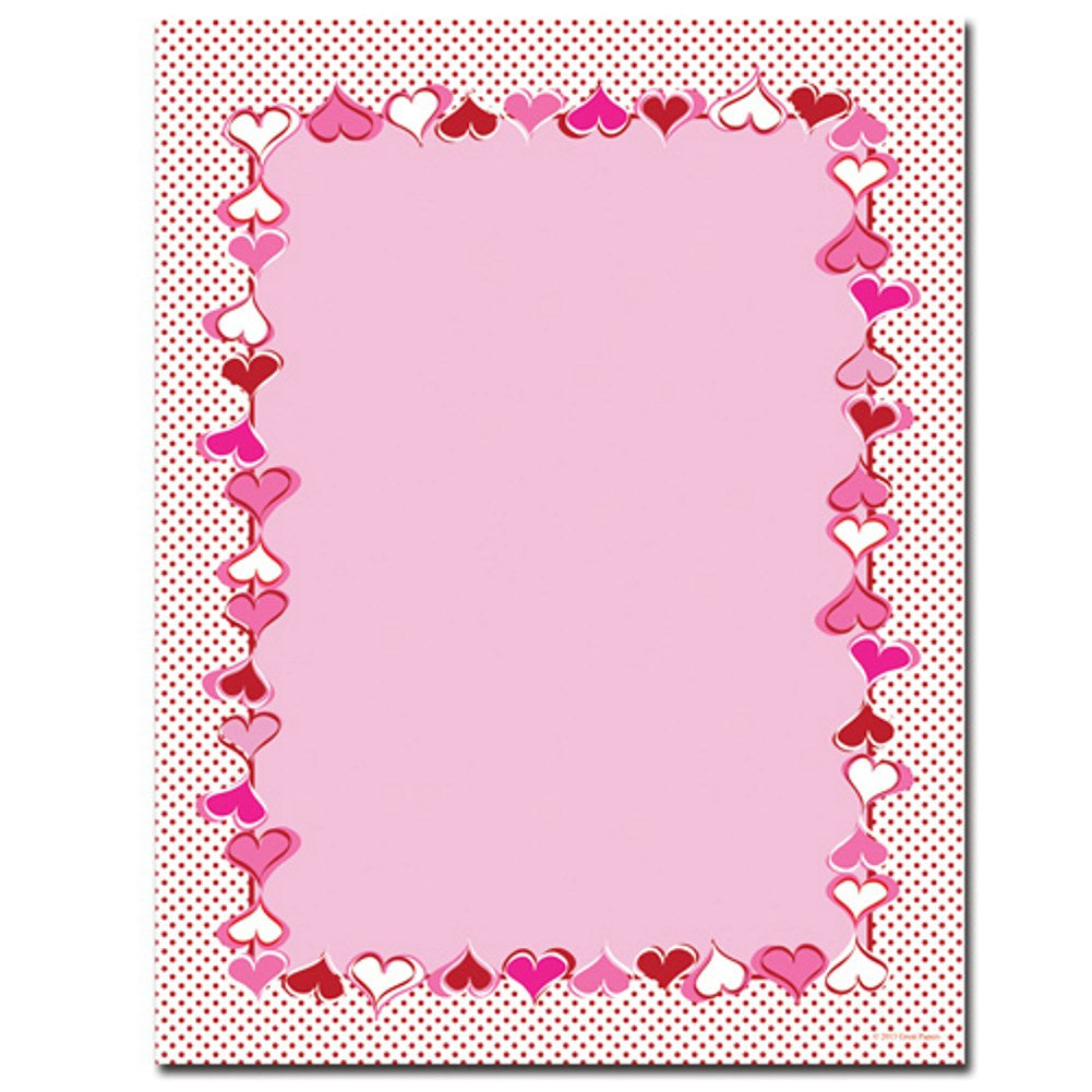 Heart Dots Letterhead Sheets - Sophie's Favors and Gifts