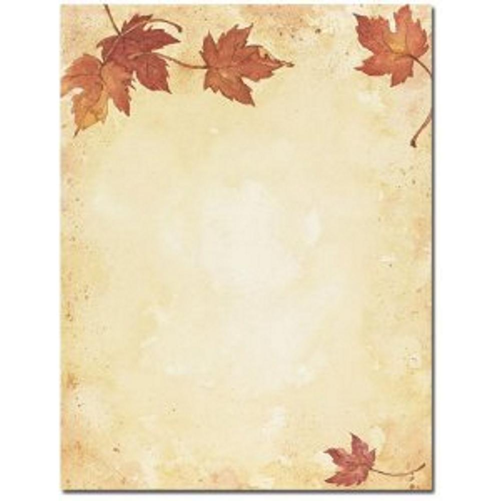 Fall Leaves Letterhead Sheets - Sophie's Favors and Gifts