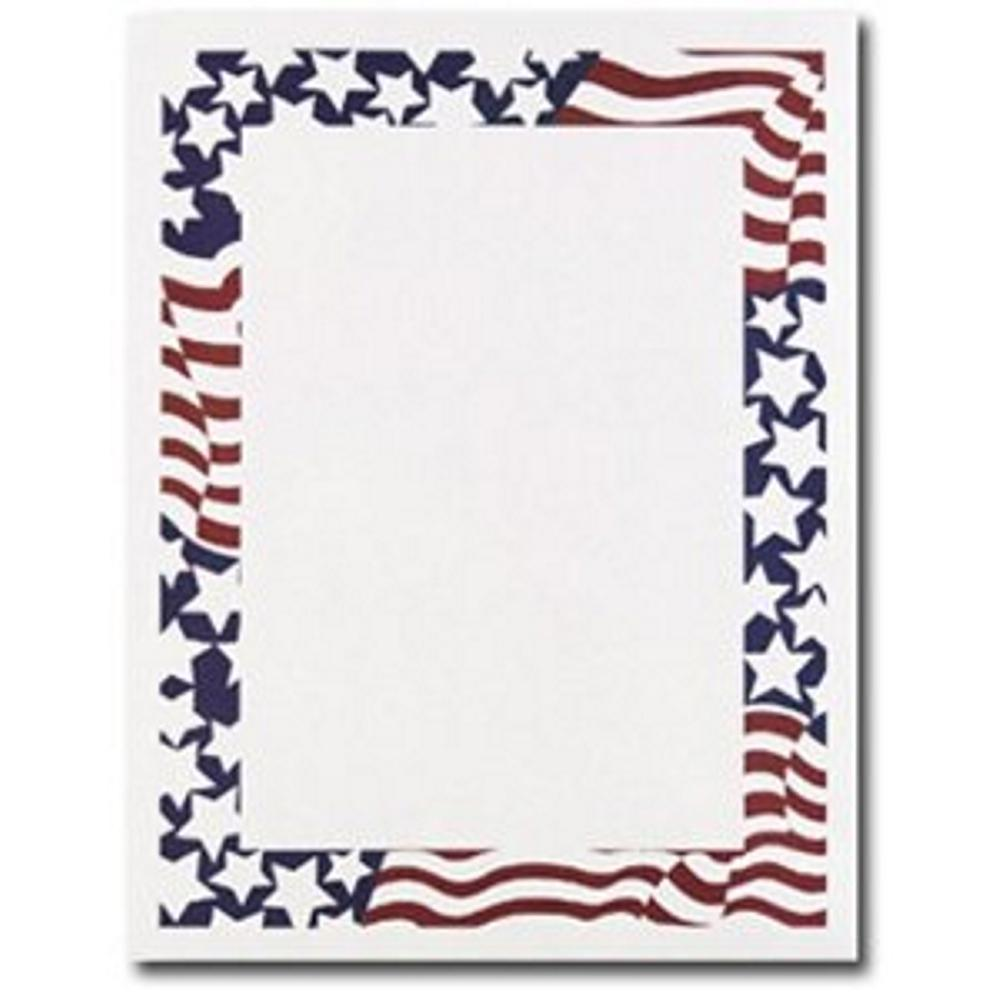 Stars and Stripes Letterhead - 160 Sheets - Sophie's Favors and Gifts