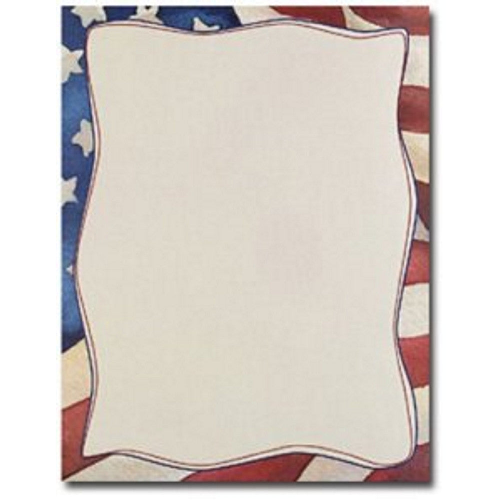 Patriotic Letterhead - 80 Sheets - Sophie's Favors and Gifts
