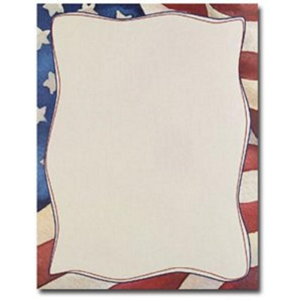 Patriotic Letterhead - 160 Sheets, patriotic letterhead, fourth of july stationery, military stationery, 4th of july letterhead, Stationery & Letterhead