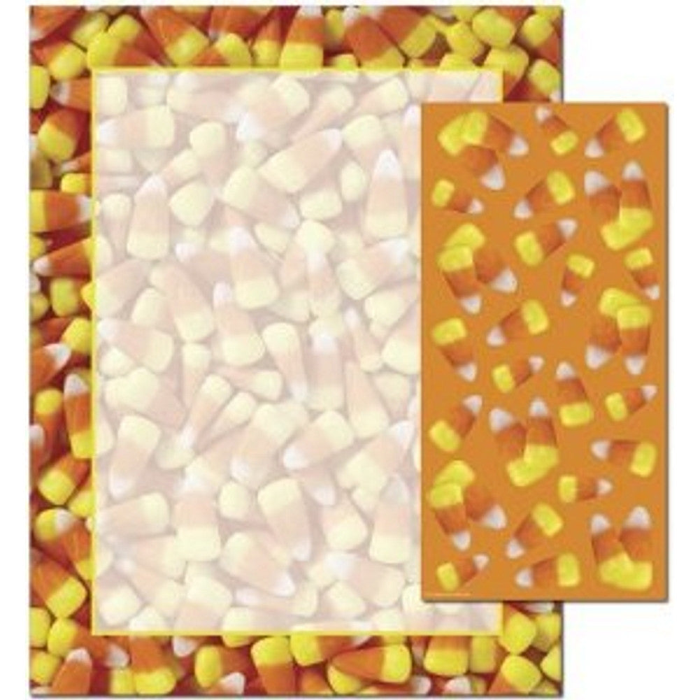 Candy Corn Letterhead Sheets and Coordinating Candy Corn Stickers, halloween paper, halloween letterhead, halloween stationary, candy corn letterhead, Stationery & Letterhead