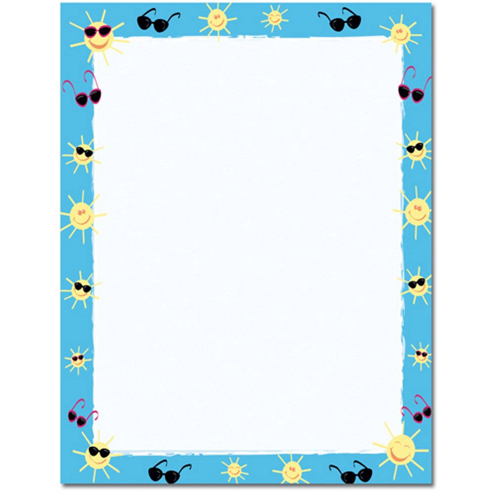 80 Sun and Shades Letterhead Sheets - Sophie's Favors and Gifts