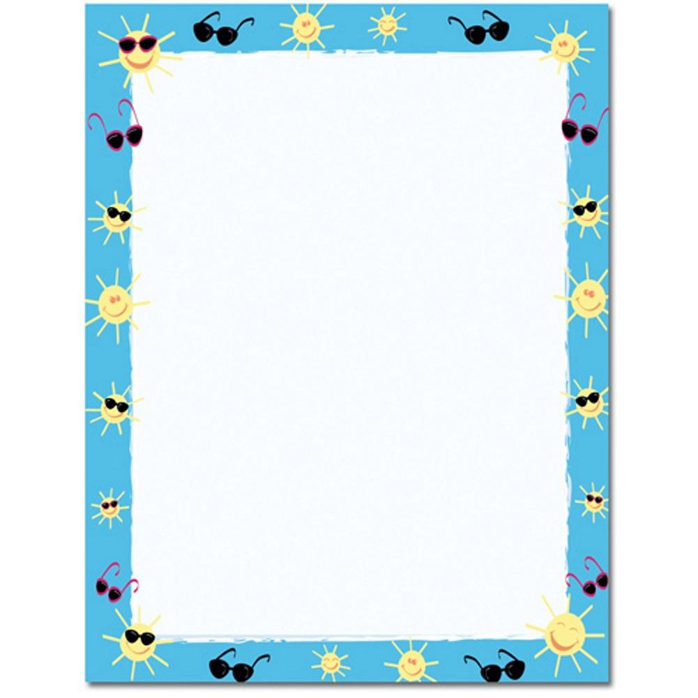 Sun and Shades Letterhead - 160 Sheets - Sophie's Favors and Gifts