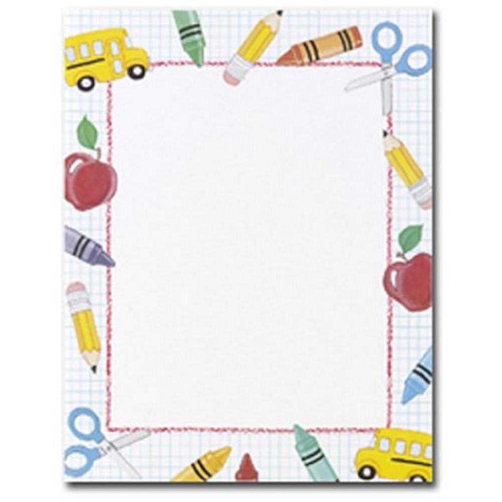School Stuff Stationery - 160 Sheets - Sophie's Favors and Gifts