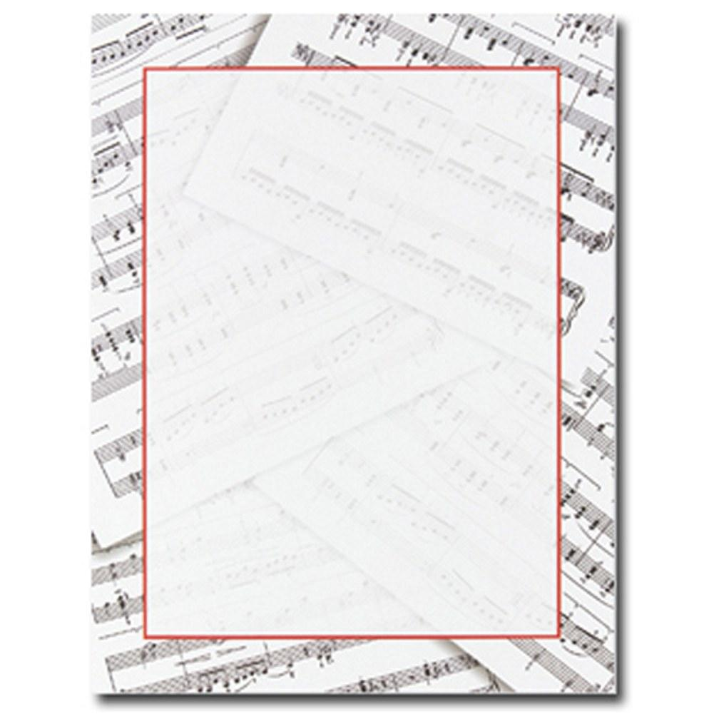 160 Sheet Music Letterhead Sheets, music stationery, music paper, music gifts, musical paper, Stationery & Letterhead