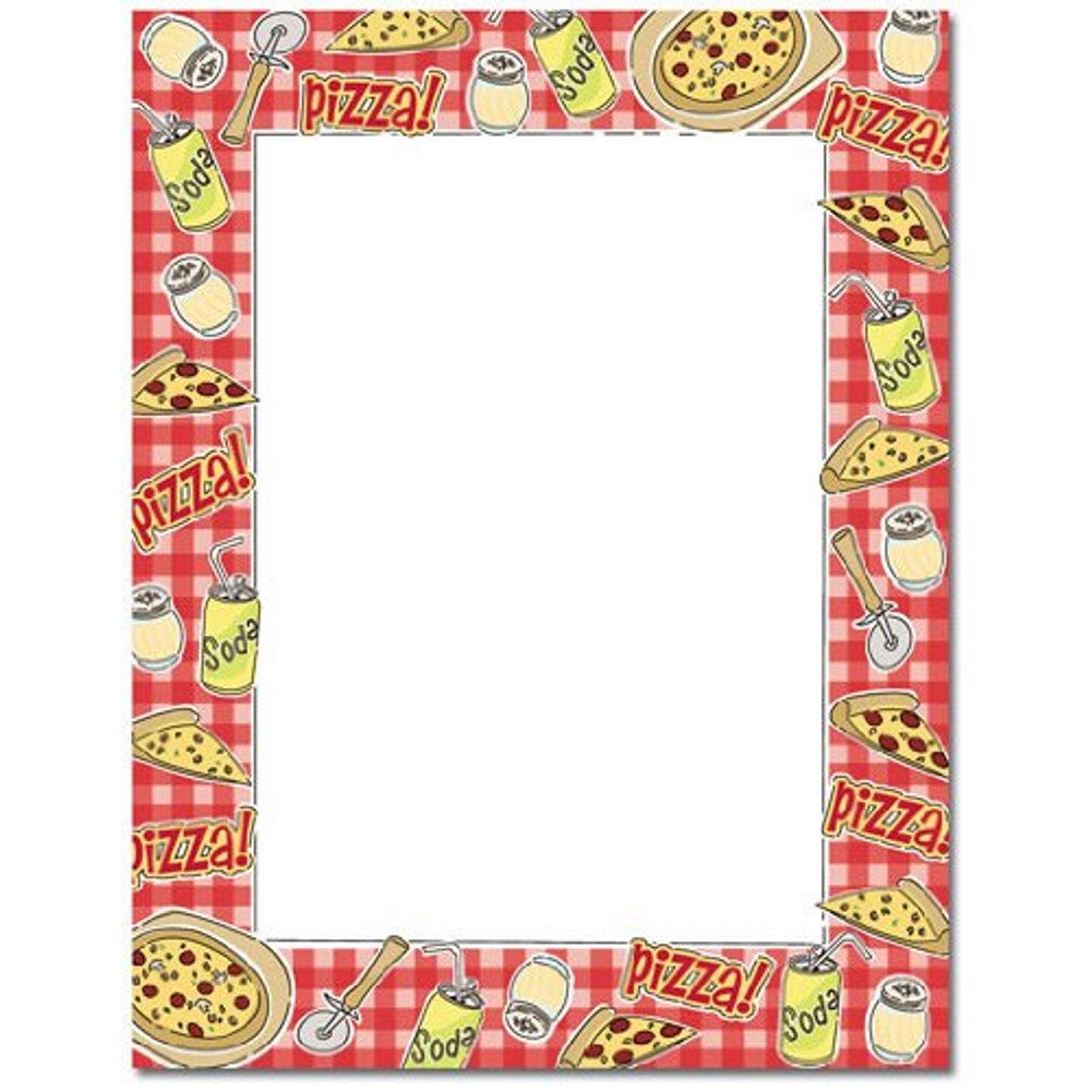 100 pizza party stationery sheets