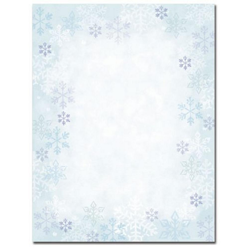 Blue Snowflakes Christmas Stationery - 160 Sheets - Sophie's Favors and Gifts