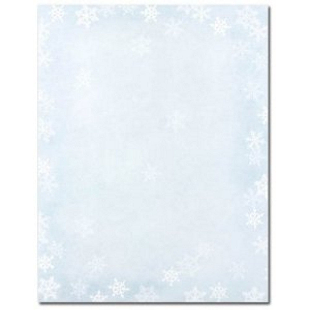 Winter Flakes Letterhead Sheets - Sophie's Favors and Gifts