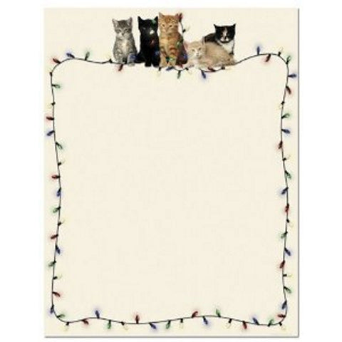 Christmas Kitties Letterhead Sheets - Sophie's Favors and Gifts