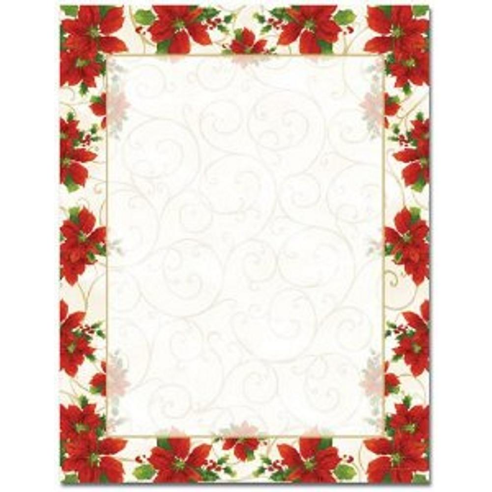 Poinsettia Swirl Letterhead - Sophie's Favors and Gifts