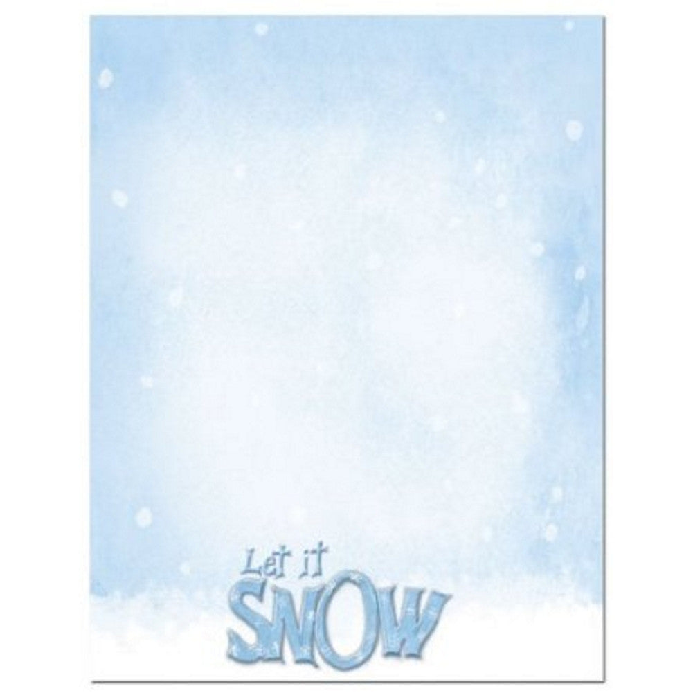 Let It Snow Holiday Letterhead Sheets, printable christmas letterhead, winter stationery, snow stationery, snow stationary, Christmas & Holiday Items