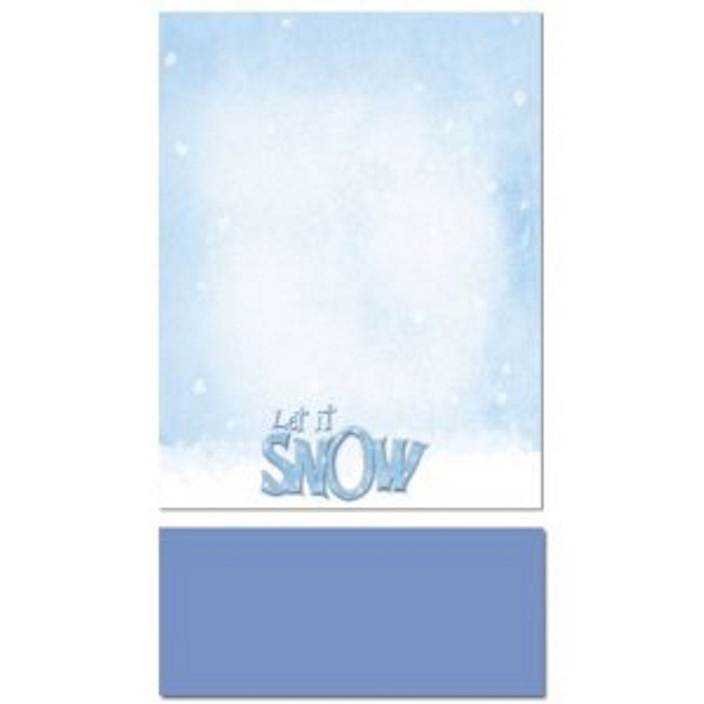 Let It Snow Holiday Letterhead Sheets and Cobalt Blue Envelopes, printable christmas letterhead, winter stationery, snow stationery, snow stationary, Christmas & Holiday Items