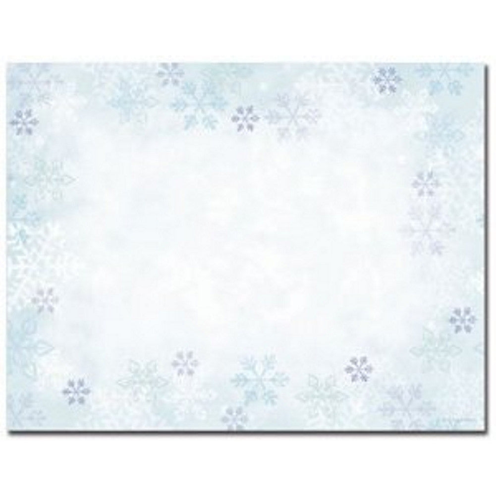 Blue Snowflakes Printable Holiday Postcards - Sophie's Favors and Gifts