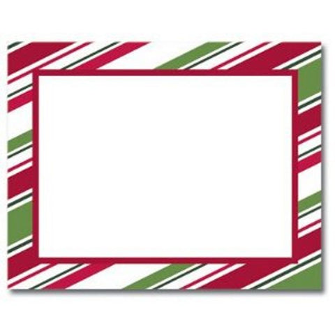 Holiday Stripes Printable Christmas Postcards - Sophie's Favors and Gifts