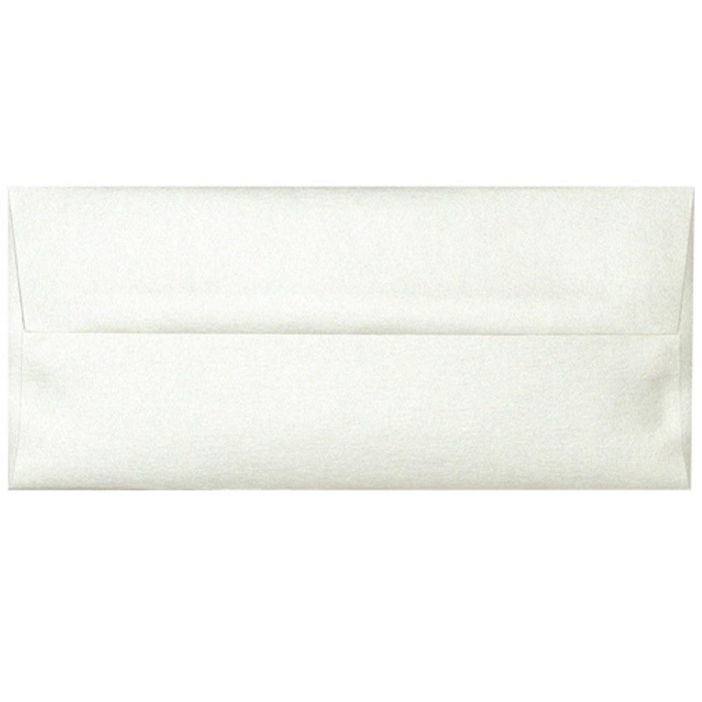 Shimmering Opal White Envelopes - No. 10 Style - Sophie's Favors and Gifts
