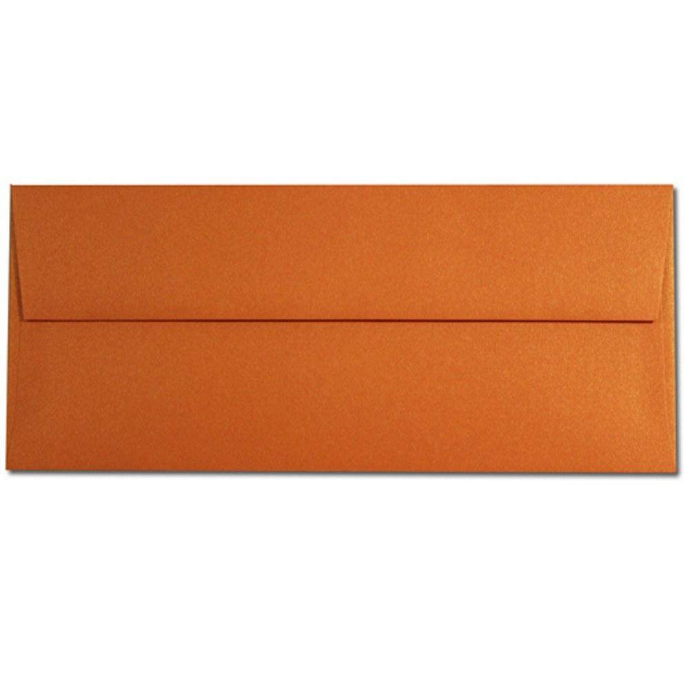 Mandarin Shimmering Envelopes - No. 10 Style, modern envelopes, shimmering envelopes, metallic envelopes, no 10 envelopes, Stationery & Letterhead