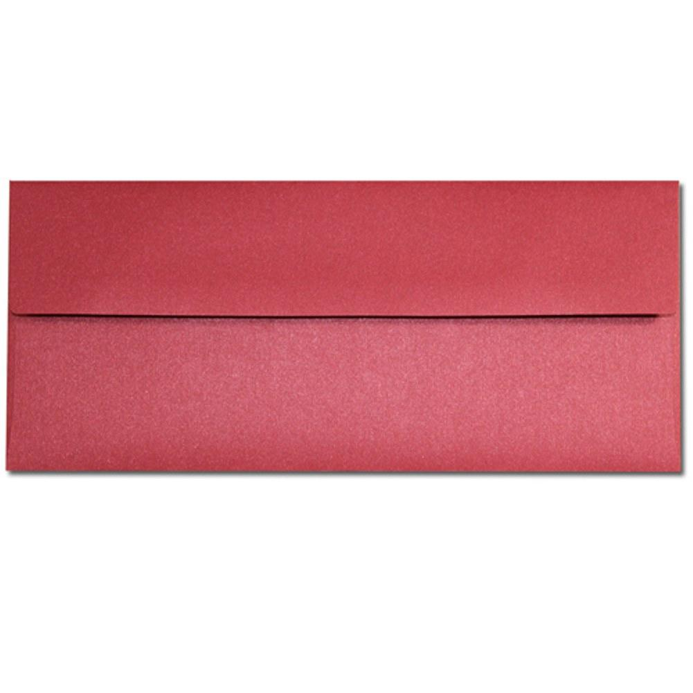 Shimmering Red Lacquer Envelopes - No. 10 Style, red envelopes, shimmering envelopes, metallic envelopes, no 10 envelopes, Stationery & Letterhead