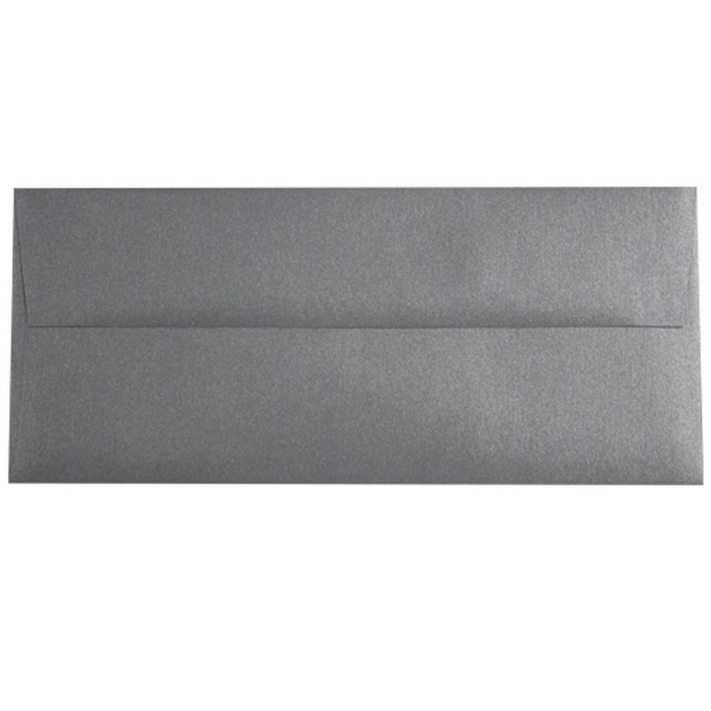 Shimmering Galvanized Gray Envelopes - No. 10 Style, gray envelopes, shimmering envelopes, metallic envelopes, no 10 envelopes, Stationery & Letterhead