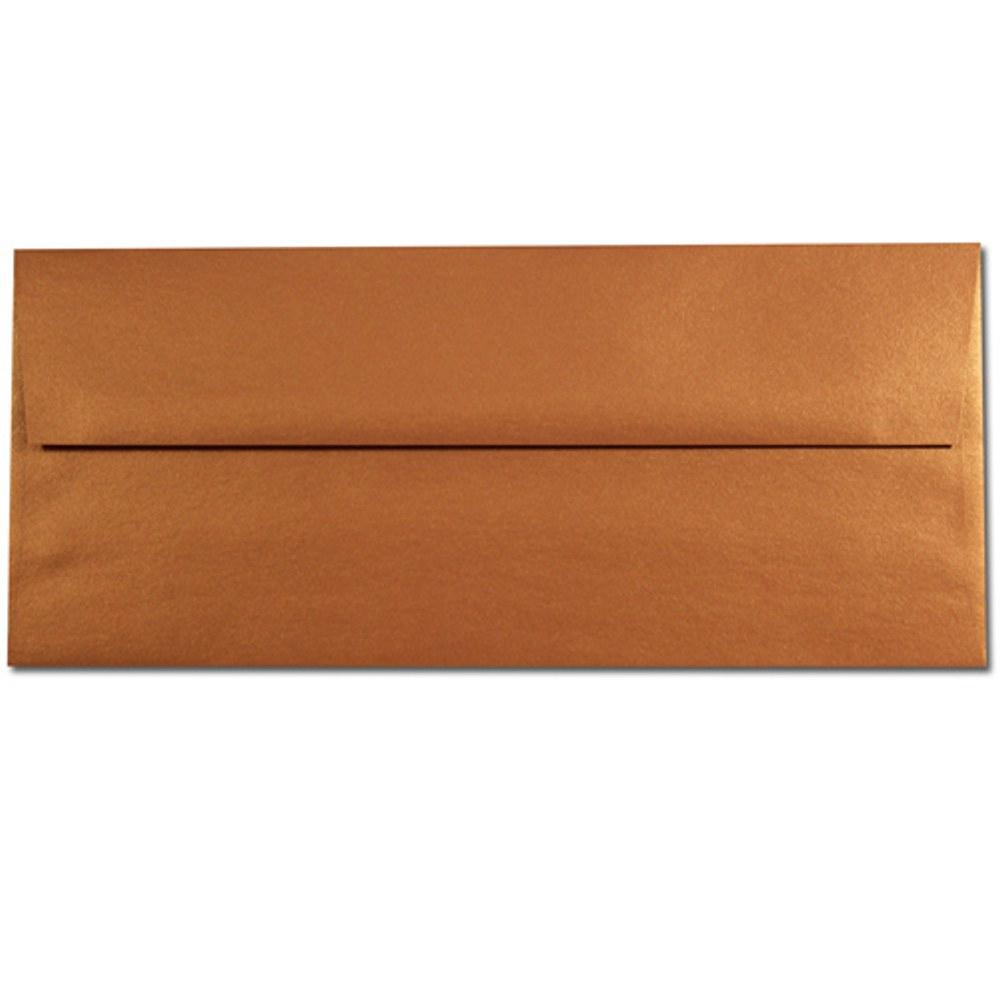 Shimmering Copper Envelopes - No. 10 Style, copper envelopes, shimmering envelopes, metallic envelopes, no 10 envelopes, Stationery & Letterhead