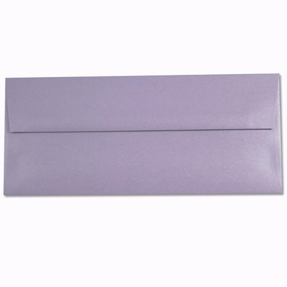 Shimmering Amethyst Purple Envelopes - No. 10 Style - Sophie's Favors and Gifts