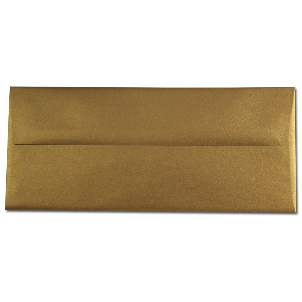 Shimmering Antique Gold  Envelopes - No. 10 Style - Sophie's Favors and Gifts