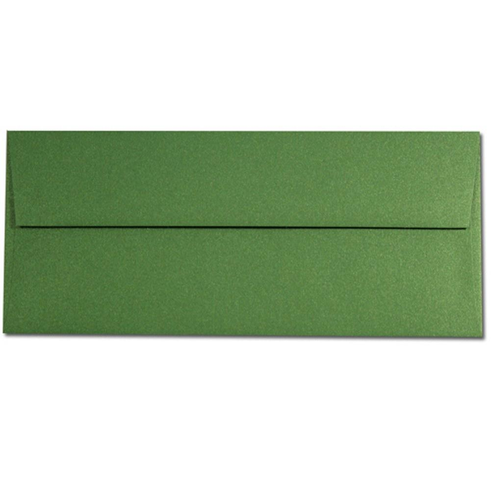 Shimmering Botanic Green Envelopes - No. 10 Style, green envelopes, shimmering envelopes, metallic envelopes, no 10 envelopes, Stationery & Letterhead