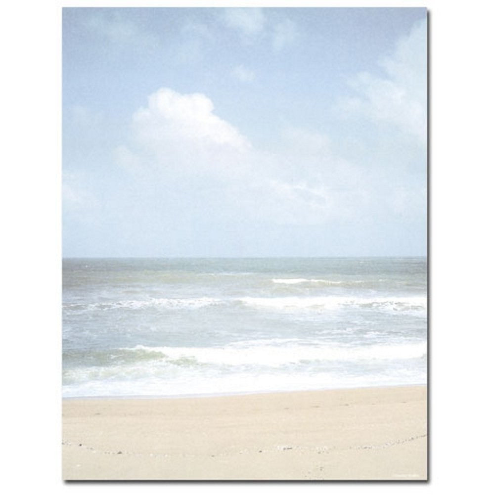 80 beach shoreline letterhead sheets