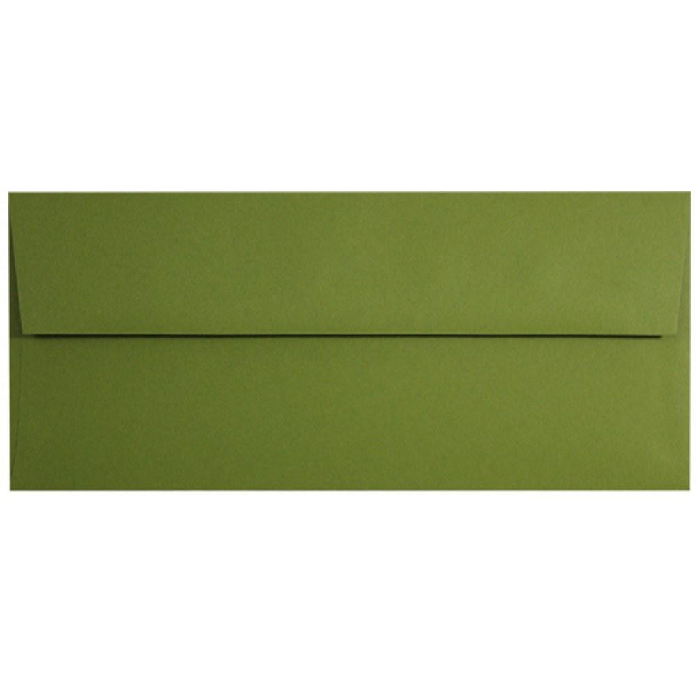 Jelly Bean Green Envelopes - No. 10 Style, green envelopes, color envelopes, dark green envelopes, no 10 envelopes, Stationery & Letterhead