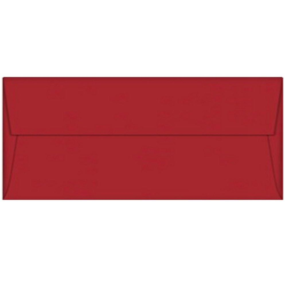 Red Wild Cherry Envelopes - No. 10 Style , red envelopes, color envelopes, business envelopes, no 10 envelopes, Stationery & Letterhead
