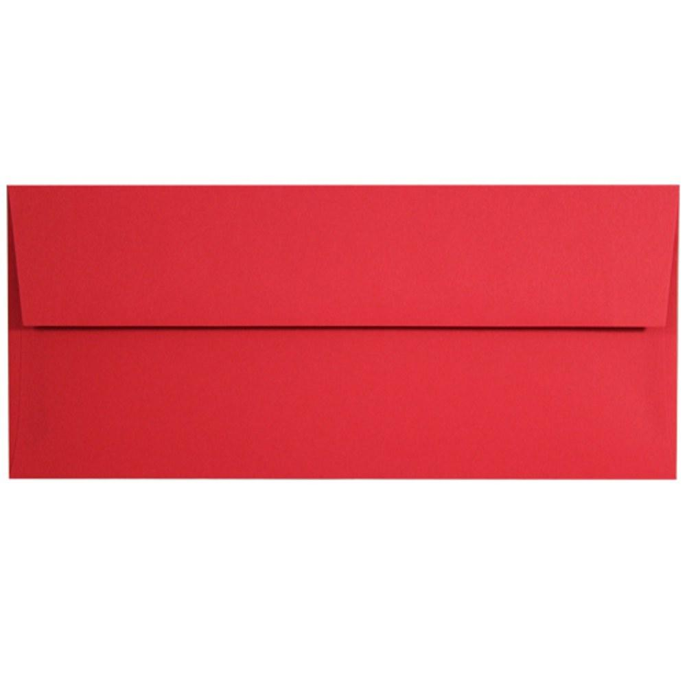 Red Hot Envelopes - No. 10 Style, red envelopes, color envelopes, business envelopes, no 10 envelopes, Stationery & Letterhead