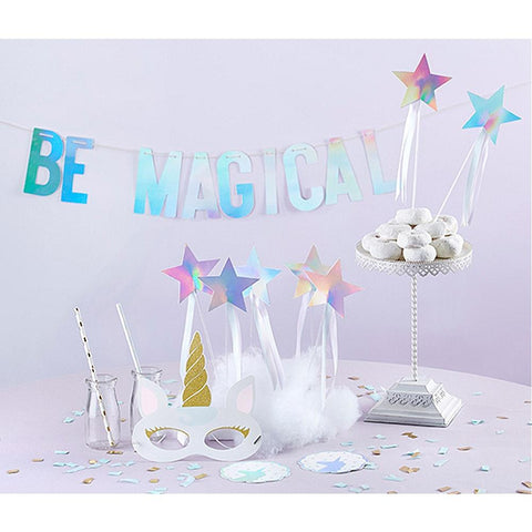 Enchanted Unicorn 49 Piece Party Decorations Kit, Table Decorations & Centerpieces, unicorn party ideas, unicorn birthday, unicorn party supplies, unicorn party decorations, girl birthday theme, Blank1, Birthday,Baby Showers, Baby Girl, Pink