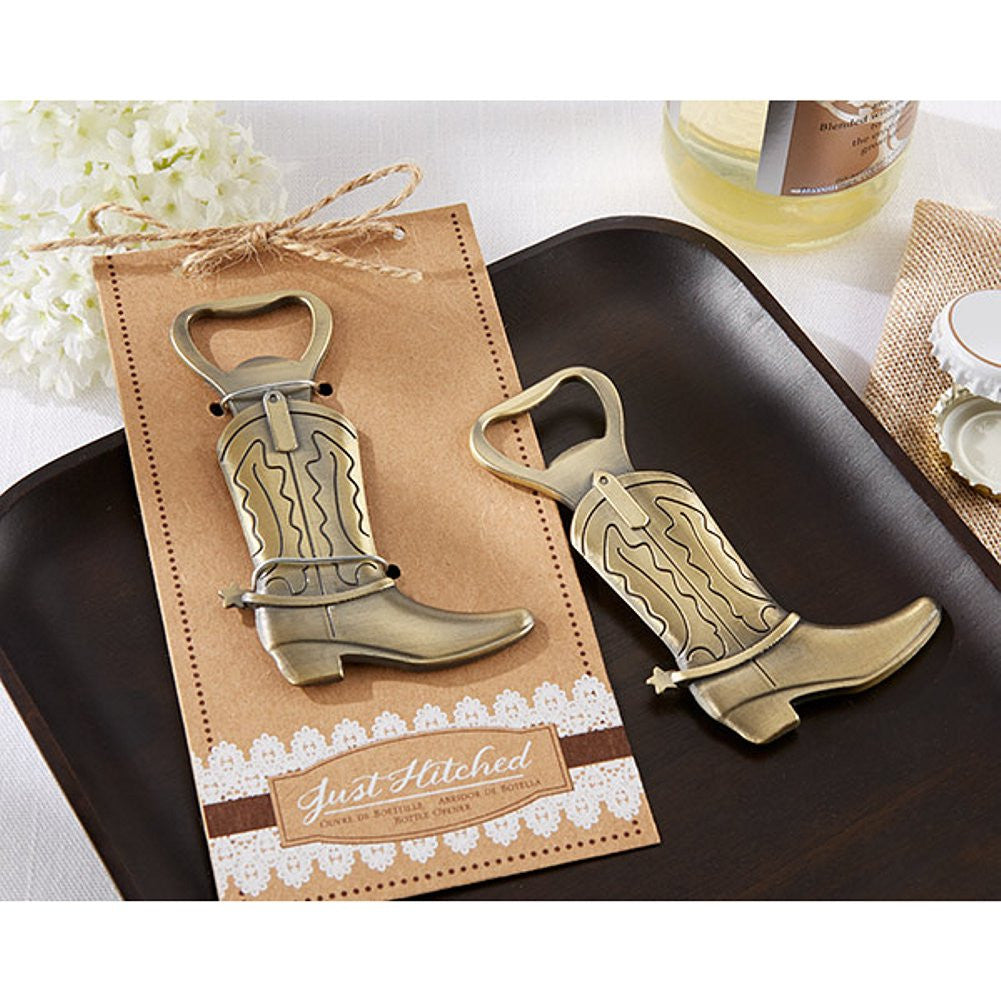 Just Hitched Cowboy Boot Bottle Opener (Pack of 40) - Sophie's Favors and Gifts