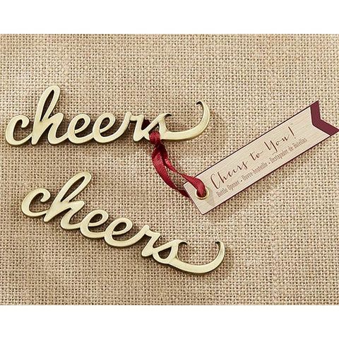 Cheers Antique Gold Bottle Opener - Sophie's Favors and Gifts