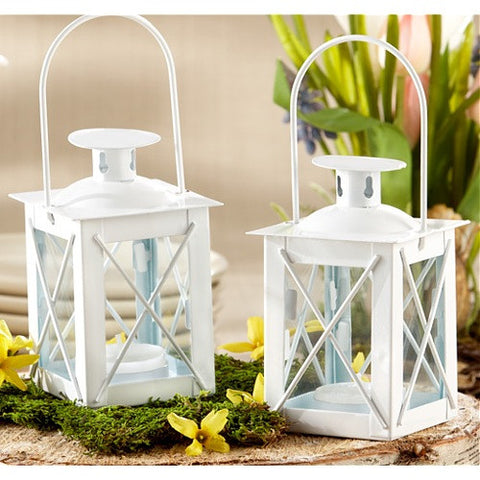 Luminous White Mini Lantern (1) - Sophie's Favors and Gifts