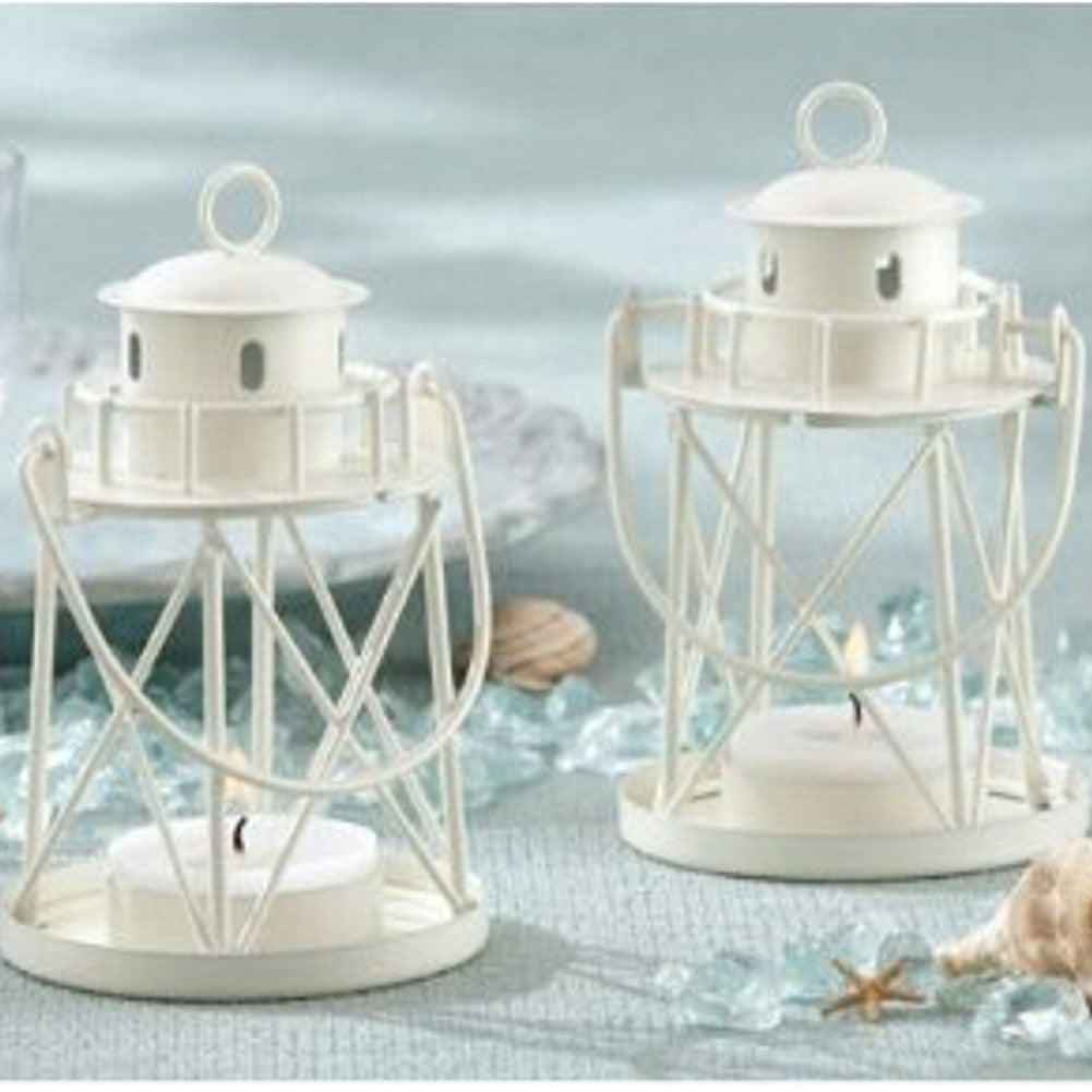 By the Sea Lighthouse Tea Light Holder, beach theme, nautical theme, coastal theme, lighthouse favor, Candle Holders