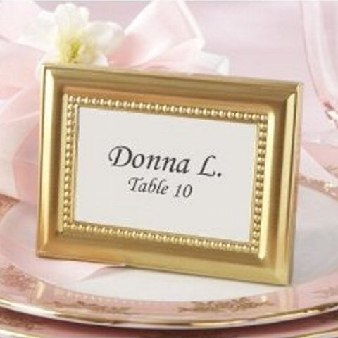 Beautifully Beaded Gold Photo Frame or Place Holder - Sophie's Favors and Gifts