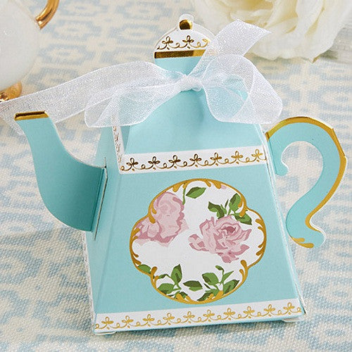 Tea Time Whimsy Teapot Favor Boxes - Set of 24, tea party ideas, tea party favors, tea party supplies, tea themed party, Favor Boxes