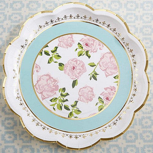 Tea Time Floral Whimsy Paper Plates - 9in. - 8 Pack - Sophie's Favors and Gifts