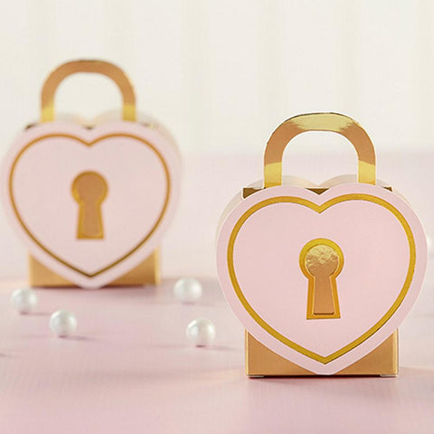 Love Lock Favor Boxes - Set of 12