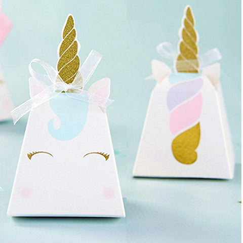 Unicorn Favor Boxes - Set of 12 - Sophie's Favors and Gifts