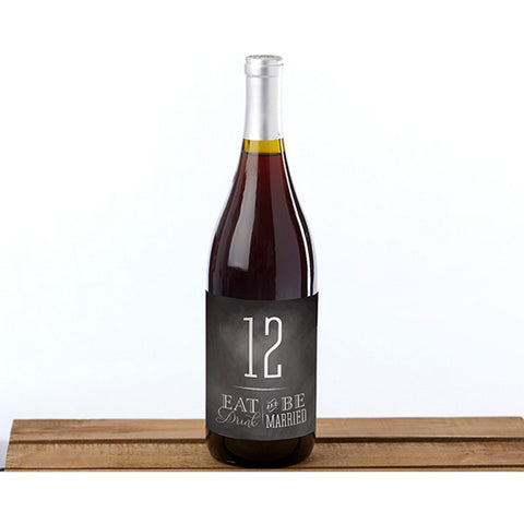 Eat Drink Be Married Wine Label Table Numbers (1-20) - Sophie's Favors and Gifts