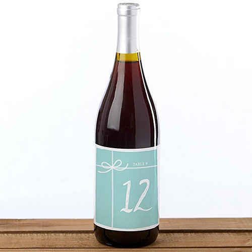 Something Blue - Wine Label Table Numbers 1-20 - Sophie's Favors and Gifts