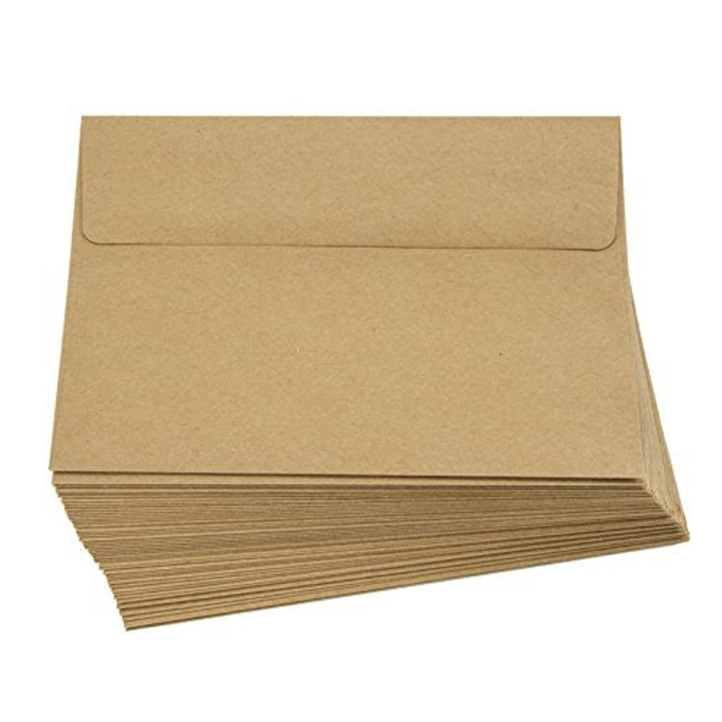 Kraft A7 Envelopes - 5.25in. x 7.25in. - 50 Pack - Sophie's Favors and Gifts