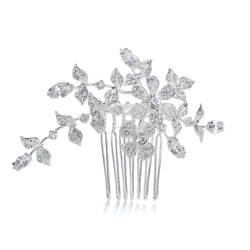 Wedding or Bridal Comb with Crystal Garden - Sophie's Favors and Gifts