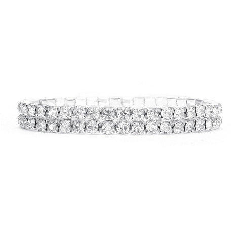 2-Row Stretch Rhinestone Bracelet - Sophie's Favors and Gifts
